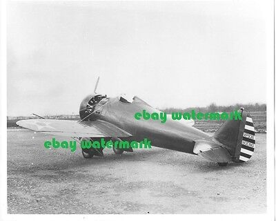 "8""x10"" glossy US Army Boeing P-26 prototype airplane photo vintage ca. 1932"