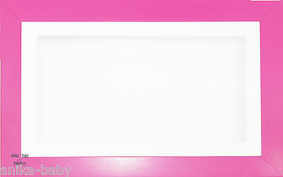 Large 3D Strong Pink Box Display White Frame Flowers Medals Casts Baby Keepsakes