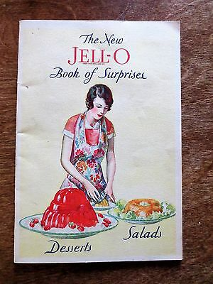 1930 New Jell-O Book of Surprises Advertising Cookbook Recipe Booklet Desserts