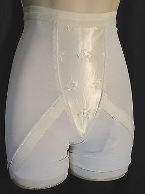 Vintage Long Leg panty Girdle shaper Wonderbra winkie S 60's Firm garters Satin
