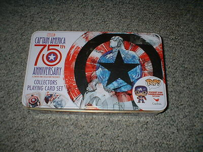 Marvel Captain America 75Th Anniversary Card Set / Bobble Head New Free Shipping