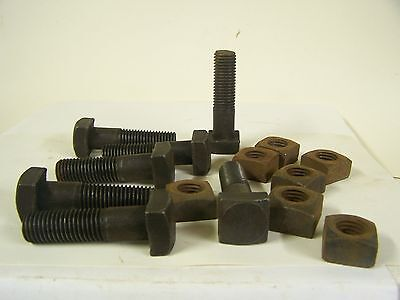 "3/4-10"" x 2 7/8"" Square Head Machine Bolts with Square Nuts Qty. 7"