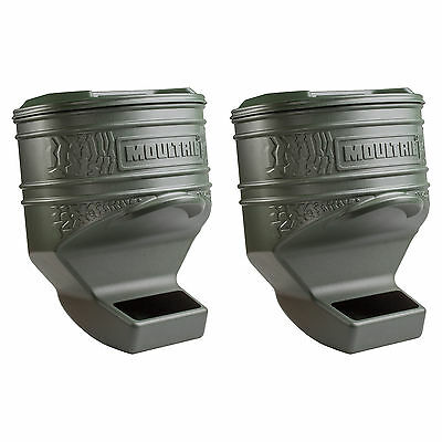 Moultrie 80 Pound Capacity Deer Wildlife Feed Station Pro, 2 Pack | MFG-13219