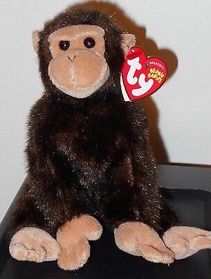ST* Ty Beanie Baby ~ WEAVER the Monkey ~ MINT with MINT TAGS (STICKER)