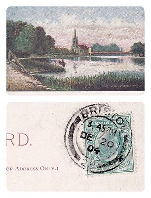 No 610-Thames-Gt. Marlow-Tucks Oilette 'up The River' Series #6394 Postcard 1904