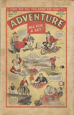 Adventure   Comic   No 1009   1st March    1941