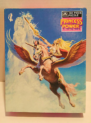 "Vintage 1986 Golden 100pc Box Puzzle SHE-RA ""Princess of Power"" Mattel HE-MAN"