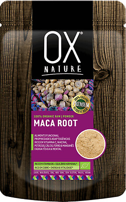 ORGANIC RAW MACA ROOT POWDER - COMPLETE PROTEIN - Ox Nature - Superfood 100g