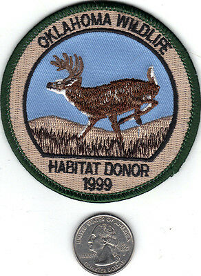 1999 Oklahoma Wildlife Deer Habitat Donor Patch-Michigan Deer-Bear-Patches