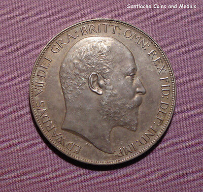 1902 KING EDWARD VII SILVER MATT PROOF CROWN - nFDC