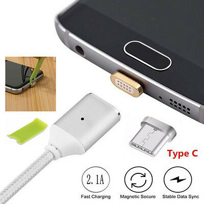 Magnetic Adapter USB-C Type C Male Charger Cable For Samsung Galaxy S8 & S8 Plus