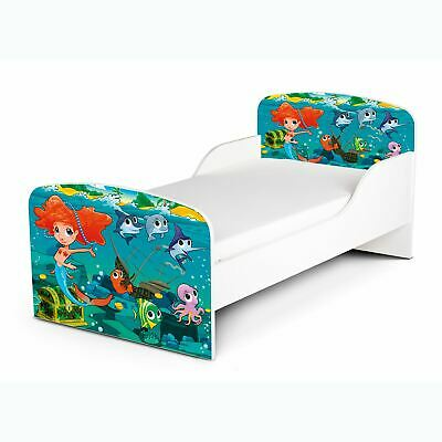 Mermaid Toddler Bed + Foam Mattress Girls Kids Junior Bedroom New