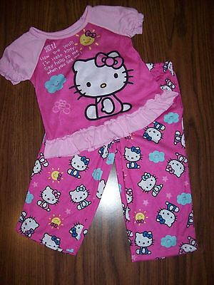 PINK Toddler Girls HELLO KITTY Nightgown Pajamas NEW NWT  MSRP $34 Size 2T