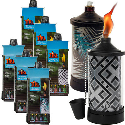 3 Pack TIKI Brand Tabletop Torches Color Changing LED Lights Outdoor Patio Set