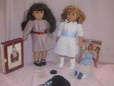 American Girl Doll Samantha & Nellie Original Pleasant Company Meet Books LOT