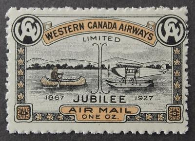 #CL41 MNH OG, Semi-Official Air, Western Canada Airways 1927 Issue