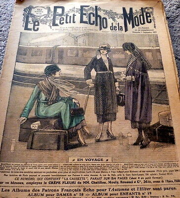 *VTG 1910s PARIS FASHION & SEWING PATTERN CATALOG LE PETIT ECHO de la MODE 1919