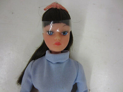 Vintage 1970's Uneeda DOLLIKIN Fashion Doll Fully Jointed Blue Blue Outfit Mint