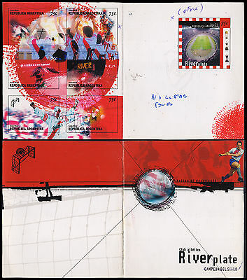 Soccer-Stamps-1999-Argentina-River Plate Booklet Essays -Very Rare !!