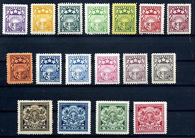 Latvia 1923-1925 Sc 113-131 Small & Large Arms Stamps MH