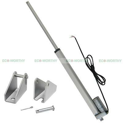 350mm/14 inch 12V Linear Actuator with Mounting Brackets for Medical Auto Car