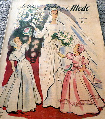 *VTG 1940s PARIS FASHION SEWING PATTERN MAGAZINE PETIT ECHO de la MODE Catalog