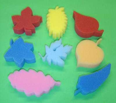 8 Sponge Foam Leaf Shapes - Ideal For Painting Dabbing Crafts Home School
