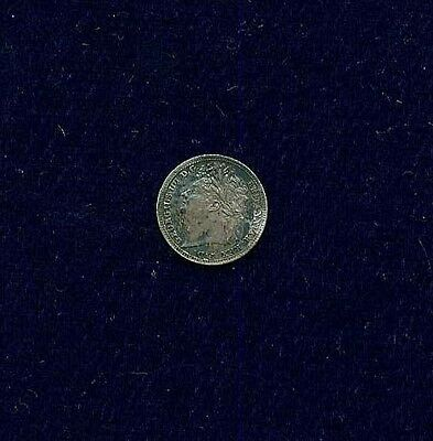 G.b./u.k./england George Iv  1824  1 Pence Silver Coin, Almost Uncirculated+