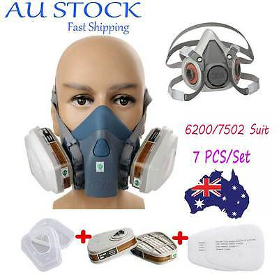 6200/7502 Respirator Painting Spray Dust Mask 6001 Organic Vapor Cartridges BW#2