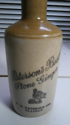 Paterson's Best Stone Ginger Glasgow Tan & Ginger Stoneware Bottle Beer