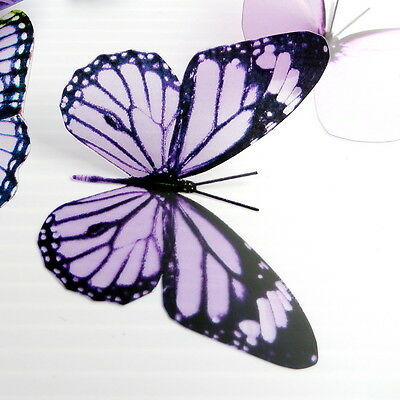 12 Pack Butterflies - Mauve - 2 to 4 cm - Cakes, Weddings, Crafts, Cards,
