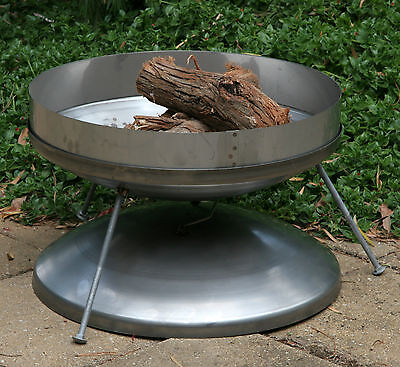 Hillbilly Fire pit, stainless steel, collapsible, sealing lid to extinguish flam