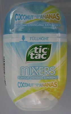 NEW TIC TAC 98g MIXERS COCONUT TURNS TO ANANAS