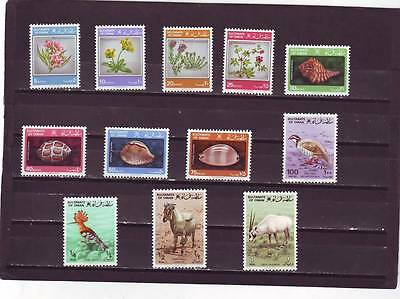 a114 - OMAN - SG259-270 MNH 1982 FLORA & FAUNA DEFINITIVES FULL SET