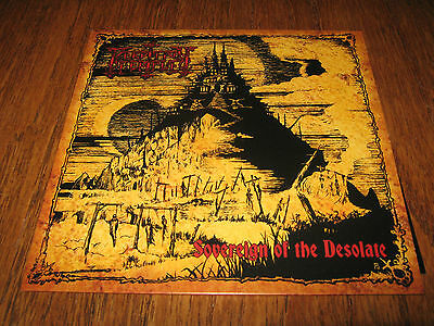 "PERDITION TEMPLE ""Sovereign of the Desolate"" 7"" black witchery angelcorpse"