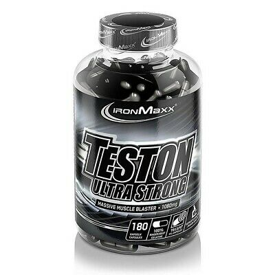 (114,51 EUR/100 g) IronMaxx Teston Ultra Strong 180 Kapseln a 1080mg NEU OVP