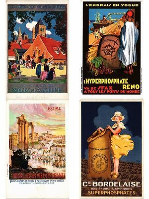 ADVERTISING 45 Vintage Postcards Mostly pre-1940 with BETTER (PART I.)