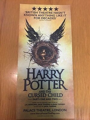 Harry Potter And The Cursed Child Palace Theatre London LEAFLET FLYER NEW