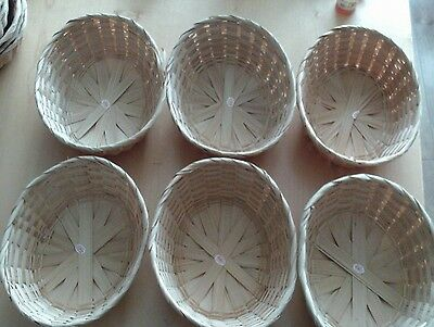 wicker gift baskets small oval x 6