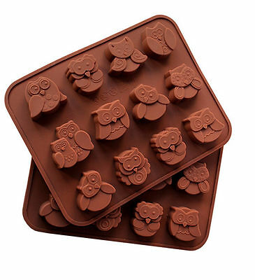 Silicone Owl Cake Decorating Mould Candy Cookies Chocolate Soap Eule Baking Mold