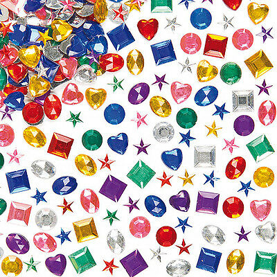 Acrylic Gems for Kid's Crafts, Decorating Cards & Collage (Pack of 1000)