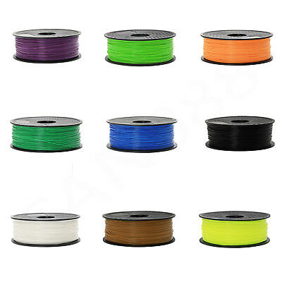 3D Printer Filament 1.75mm PLA PC PETG WOOD 1KG Colours Engineer Drawing Art AU