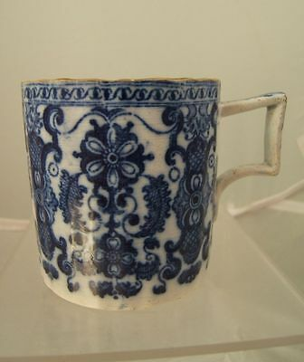 English pearlware pottery coffee can blue & white underglaze transfer c. 1800