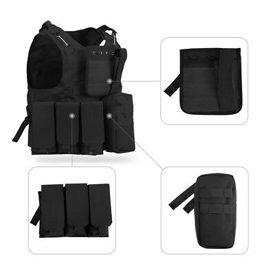Enkeeo New Military Airsoft Tactical Vest Army Molle Hunting Paintball Carrier