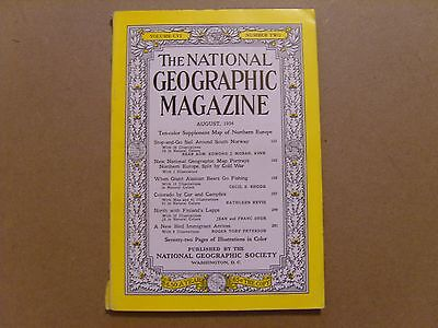 National Geographic Magazine - August 1954 - No Map - See Images For Contents