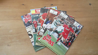 ABERDEEN v CELTIC FOOTBALL PROGRAMMES x 30 1980-1993 SCOTTISH CUP SKOL CUP