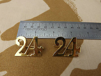24th Foot 2nd Warwickshire Numeral 24 Shoulder badges Repro with pins Zulu War