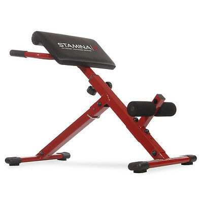 Stamina X Adjustable Ab Back Core Strength Exercise Fitness Hyperextension Bench