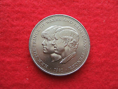 1981 Eight (8)  'charles And Diana'  Wedding Commemorative  Crown Coins