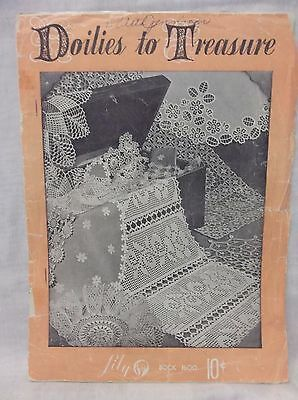 Doilies to Treasure Lily Book 1600 Vintage Crochet Pattern Book Late '40s